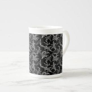 Pretty Bone China Mug: Lilies of the Valley, Black Tea Cup