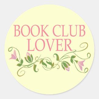 Pretty Book Club Lover Classic Round Sticker