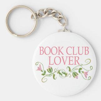 Pretty Book Club Lover Basic Round Button Keychain