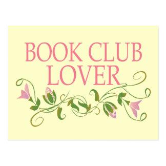 Pretty Book Club Lover Postcard