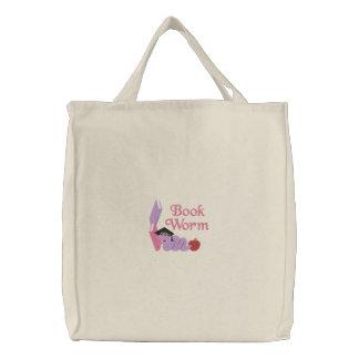 Pretty Bookworm Book Tote Bag