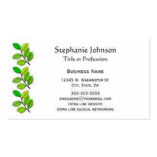 Pretty Botanical Green Leaf Professional Custom Business Card
