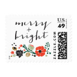 Pretty Bouquet Floral Holiday Merry + Bright Stamp