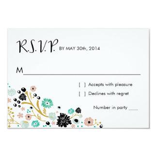Pretty Bouquet Floral | R S V P Reply Card Blush