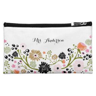 Pretty Bouquet Floral Wedding Cosmetic Bag
