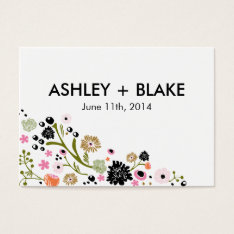 Pretty Bouquet Floral Wedding Favor Card at Zazzle