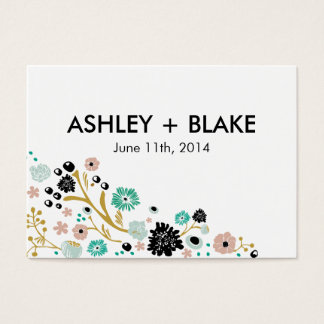 Pretty Bouquet Floral Wedding Favor Card Blush