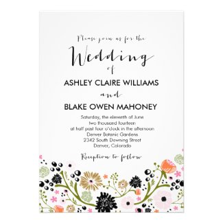 Pretty Bouquet themed wedding collection with colorful flowers