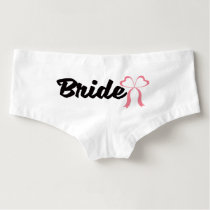 Pretty bow bride wedding day underwear