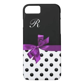 Pretty Bow Girly Monogram iPhone 7 Case