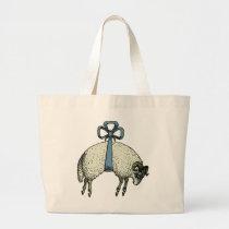 Pretty Bow Sheep™ - Baby Diaper JUMBO Bag