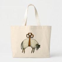 Pretty Bow Sheep ~ Baby Diaper JUMBO Bag