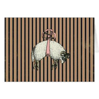 Pretty Bow Sheep DESIGNER OPTIONS ~ Card