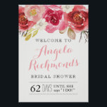 "Pretty Bridal Shower Welcome Sign (20x28)<br><div class=""desc"">Pretty Bridal Shower Welcome Sign (20x28) created by Colourful Designs Inc. Copyright 2017</div>"