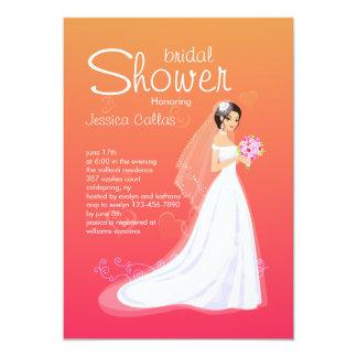 Pretty Bride Bridal Shower Invitation