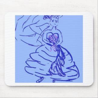 Pretty Bride in Blue Mouse Pad
