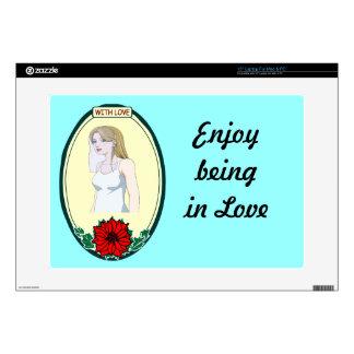 Pretty bride, wedding skin for laptop
