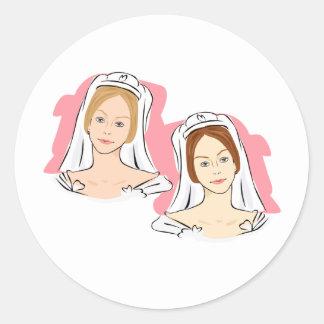 Pretty Brides Classic Round Sticker