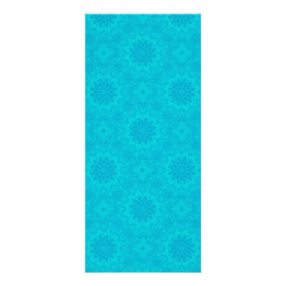 Pretty bright aqua blue kaleidoscope rack card
