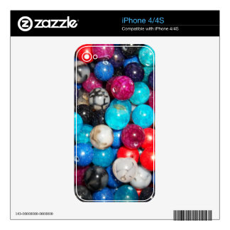 Pretty Bright Bead Print Decals For The iPhone 4S