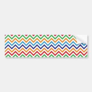 Pretty Bright Colorful Zig Zag Chevron Stripes Bumper Sticker