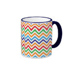 Pretty Bright Colorful Zig Zag Chevron Stripes Coffee Mugs