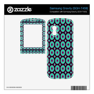 Pretty Bright Turquoise Purple pattern Skins For Samsung Gravity