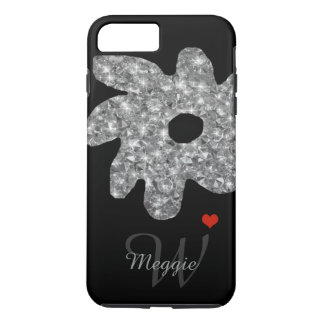 pretty brightness flower with name & initial iPhone 7 plus case