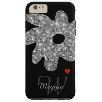 pretty brightness flower with name & initial tough iPhone 6 plus case