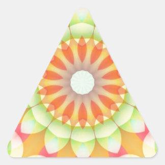 Pretty Brights Flower Kaleidoscope Triangle Sticker