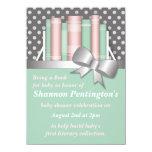 """Pretty Bring a Book Baby Shower Invitations 4.5"""" X 6.25"""" Invitation Card"""