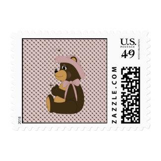 Pretty Brown Bear Dots Stamps