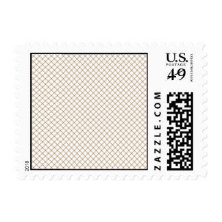 Pretty Brown Bear Tan Plaid Stamps