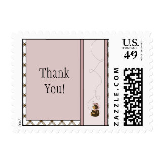 Pretty Brown Bear Toffee Plaid Stamps
