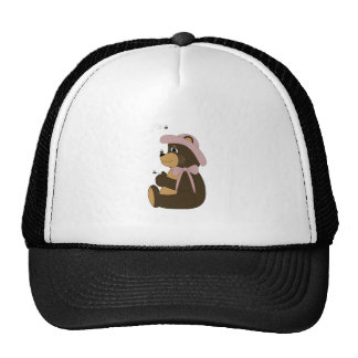 Pretty Brown Bear With Bees Hat