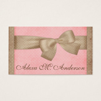 Pretty Brown Bow Business Cards
