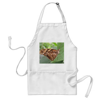 Pretty Brown Butterfly Apron