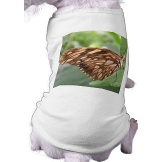 Pretty Brown Butterfly Dog T Shirt