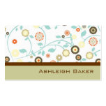 Pretty Brown Floral Mommy Calling Card Business Card Template