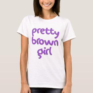 Pretty Brown Girl Funny Ladies Baby Doll T-Shirt