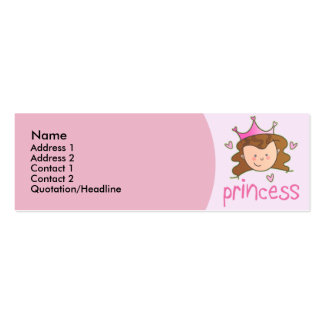 Pretty Brunette Princess Skinny Profile Cards
