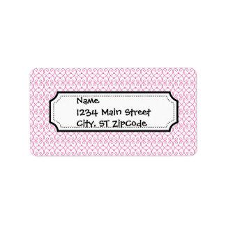 Pretty Bubble Gum Pink Scroll Pattern Label