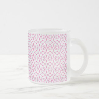 Pretty Bubble Gum Pink Scroll Pattern Mug