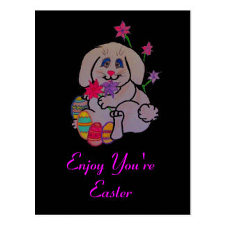 Pretty Bunny Postcard