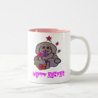 Pretty Bunny Two-Tone Coffee Mug