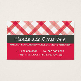 PRETTY BUSINESS CARD :: gingham pattern 4L