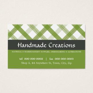 PRETTY BUSINESS CARD :: gingham pattern 9L