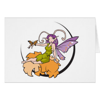 pretty buttefly fairy greeting card