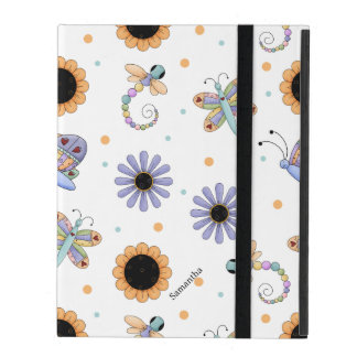 Pretty Butterflies and Dragonflies iPad Case
