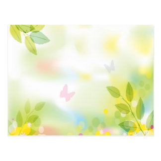 Pretty Butterflies and Flowers - Can Add Text Postcard